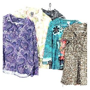 Tops - Womens Blouse Size XL Lot of 5